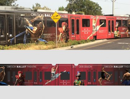 Ballet: Light Rail Train Wrap